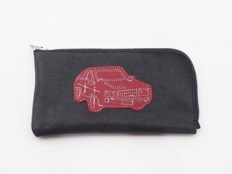 CowLeatherLongWallet [car](黒)18×9/財布/wl001carの画像
