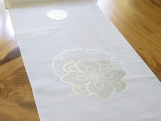 :京都丹後の雪月花テーブルランナー:の画像