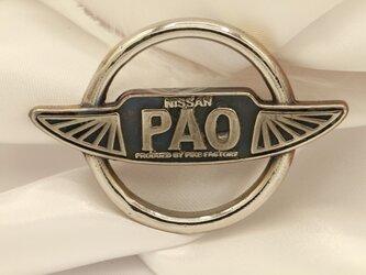 PAOエンブレム 高級希少金属コバルト製キーホルダー 車バイクエンブレムシリーズの画像