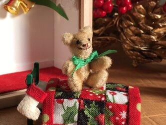 くまっこBOX「クリスマスベッドルーム」【受注生産】の画像