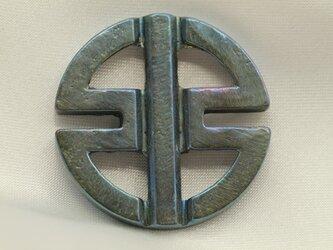 カワサキリバーマーク エンブレムキーホルダー高級希少金属コバルト製の画像