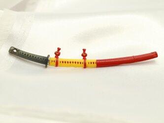 ミニチュア武器 日本刀 高級希少金属コバルト製の画像
