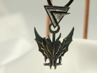 ドラゴンモチーフ ペンダントトップ 高級希少金属コバルトの画像