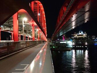 みなと神戸に架ける華 「神戸大橋」 「橋のある暮らし」A4サイズ光沢写真縦  写真のみ 神戸風景写真の画像
