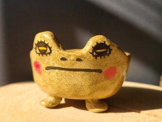 小さな植木鉢 鉢ガエルさんの画像