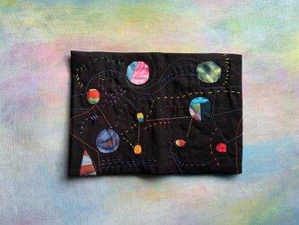 宇宙みたいなブックカバーの画像