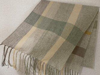 手織りストール W19の画像