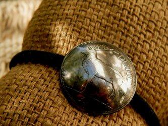 #H26 Ireland Coin Hair Elasticの画像