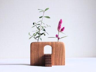 木の花瓶【タモ】階段付きの画像