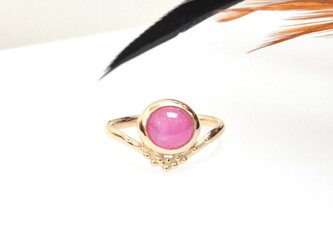-TIARA- K10YG ピンクサファイアのリングの画像
