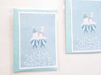 「flocon de neige」クリスマスカードセットの画像