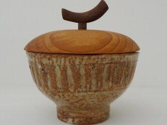 シノギ 乳濁釉・蓋物の画像