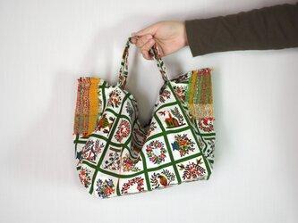 手織りコンビ 傾きにくいランチエコバッグの画像