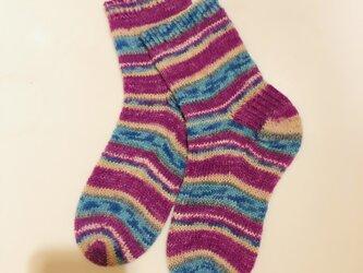 No.450 手編み靴下の画像