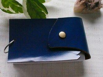 """馬革ロイヤルブルー 情報カード・京大式カードケース  5""""×3""""サイズの画像"""