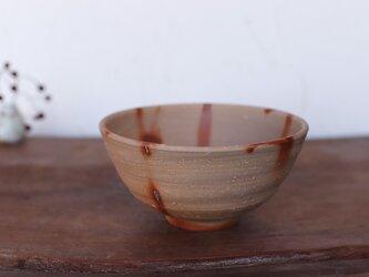備前焼 飯碗・ひだすき(大) m1-052の画像