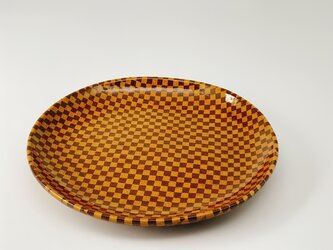 練り込み丸皿 checkeredの画像