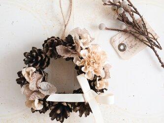 """手染めwreath : リース """" Antique flowers """" 【size S】の画像"""
