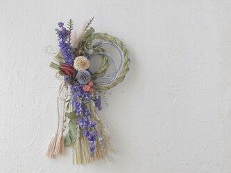 千鳥草のお正月リースの画像