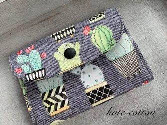 ■ ミニ財布⭐︎サボテン柄・カクタス⭐︎USAコットン マイケル・ミラーの画像