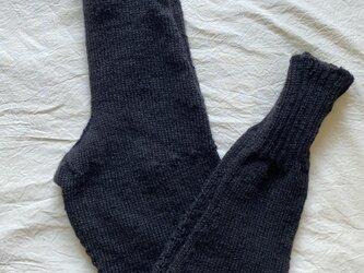 コー様 専用 手編みのレギンスグレーの画像