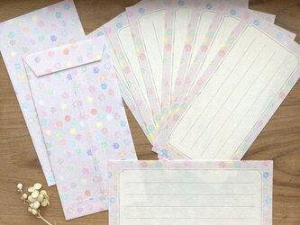 和紙の一筆箋セット【甘党三姉妹・こんぺいとう】の画像