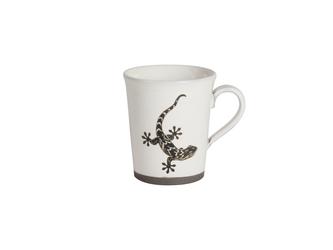 粉引コーヒーカップ(やもり)の画像