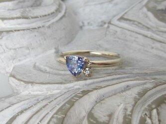 タンザナイト(トリリアント)&ダイヤモンド・リング(k10)(売約済)の画像