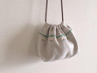 おさんぽ巾着 白詰草の画像