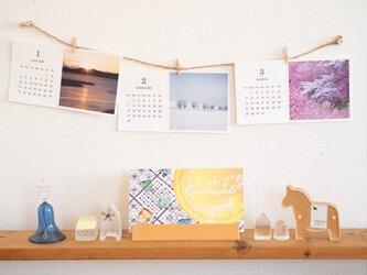 活版印刷カレンダー2021*Mariko Hirai * Photo&Pastel&刺繍の画像