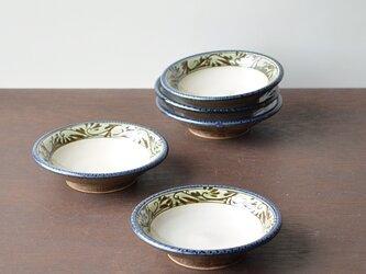 緑釉唐草文3.5寸皿の画像