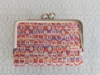 手織りカードケースⅢ 赤系の画像