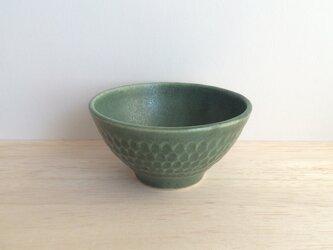 しのぎ茶碗(グリーン)の画像