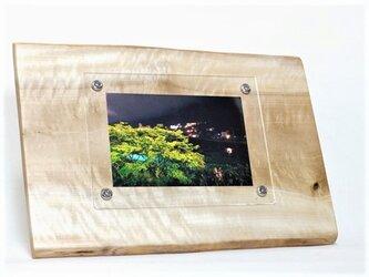 木製写真立て 壁掛け対応 No.7 朴の天然木(KG-17)の画像