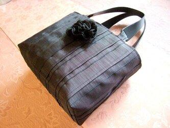 畳縁バッグの画像