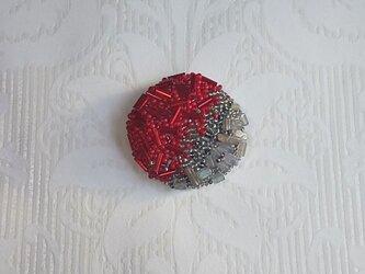 刺繍ブローチ rad & Grayの画像