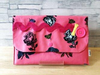 マスクケース*薔薇(ピンク)の画像