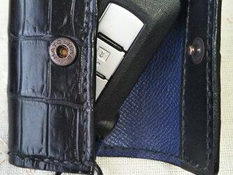 スマートキイケース 黒クロコダイルの画像