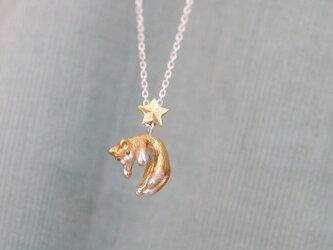 星と旅する脱力茶白猫のペンダントの画像