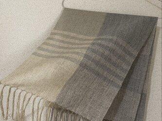 手織りストール W20の画像
