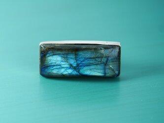 ラブラドライト・大粒・極上・天然石・一粒・シルバーリングの画像