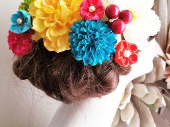 大正ロマン karankoron お花の髪飾り10点Set No780の画像