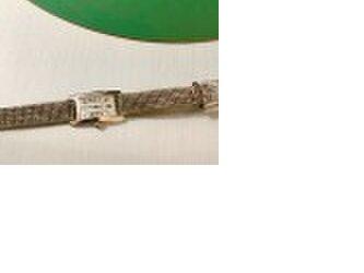 Mayumi Inoue様オーダー作品 メタリックな輝きの時計ベルトの画像