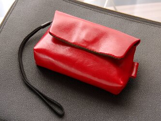 《Horse Leather》コンパクトカメラ用レザーカメラケース バーガンディーの画像