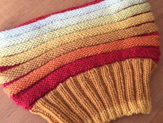 手編みメリノウールカウルの画像