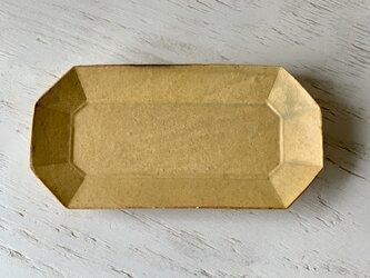 梔子(くちなし)色釉 八角プレート(中)の画像