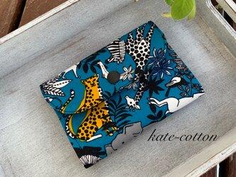 ■ミニ財布⭐︎サファリ柄・ブルー系の画像