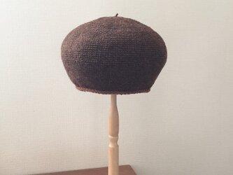 丸い帽子②・ブラウンの画像