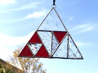 サンキャッチャー・Triangle1(クリア・レッド)の画像