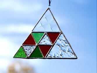 サンキャッチャー・Triangle2(クリア・グリーン・レッド)の画像